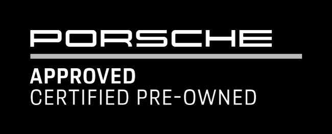 text black font Porsche Approved Certified Pre-owned
